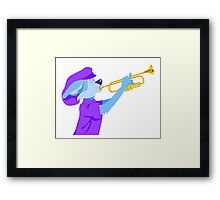Cat Playing Trumpet Framed Print