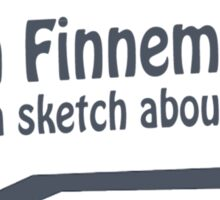 John Finnemore made a sketch about that Sticker