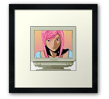 Screen Burn Framed Print