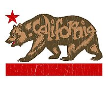 Fuzzy California Bear (vintage distressed look) Photographic Print