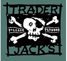 Trader Jack's Pirate Flag Photographic Print