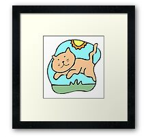 Cat Playing Framed Print