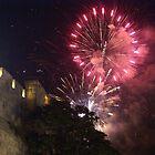 Fireworks above Jerusalem by Moshe Cohen