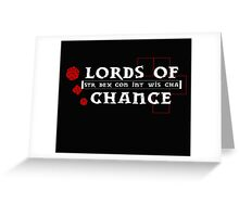Lords of Chance Greeting Card