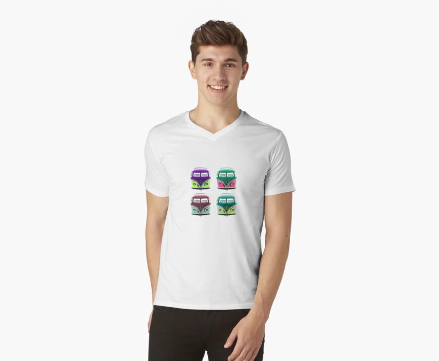 Pop Kombi  VW Plain T-shirt by KellieBee