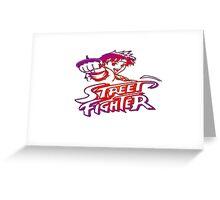 Sakura Street Fighter Greeting Card