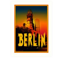 Gedächtniskirche in Berlin Germany Art Print
