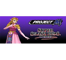 Zelda with Melee and Project M logos Photographic Print