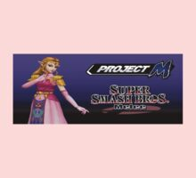 Zelda with Melee and Project M logos Kids Clothes