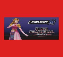 Zelda with Melee and Project M logos One Piece - Short Sleeve