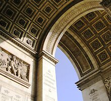 Arcs of the Arc de Triomphe - Paris, France by Deanna Roberts Think in Pictures