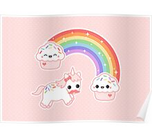 Cute Cupcake Unicorn Poster