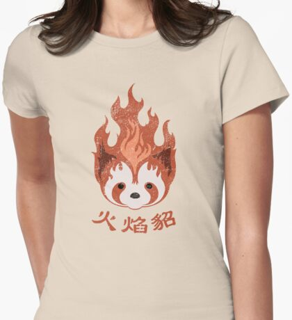 Legend of Korra: Fire Ferrets Pro Bending Emblem Womens Fitted T-Shirt
