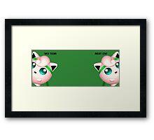 Melee Jigglypuff Rest 'Em Framed Print