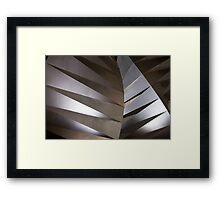Abstract steel sculpture Framed Print