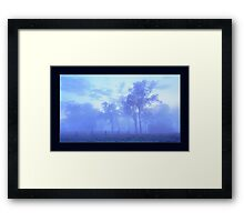 Fog at Lawrence. Framed Print
