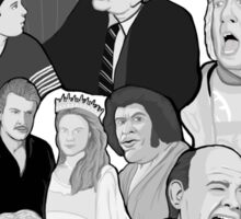 the Princess Bride character collage Sticker