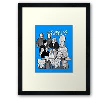 the Princess Bride character collage Framed Print