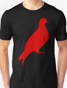 One Day Film Pigeon Logo (red) Unisex T-Shirt