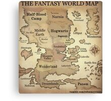 Fantasy World Map Canvas Print