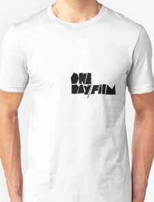 One Day Film Text Logo (black) T-Shirt