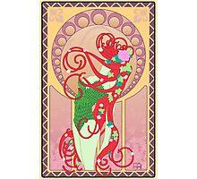 Poison Ivy Art Nouveau Photographic Print