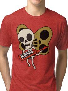 Jamin' Skull Butterflies Tri-blend T-Shirt