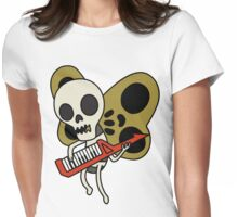 Jamin' Skull Butterflies Womens Fitted T-Shirt