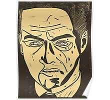 Jude Law as Harlen Maguire from Road to Perdition, linocut Poster