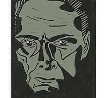 Lionel Atwell as Moriarty from Doctor Who, linocut Photographic Print