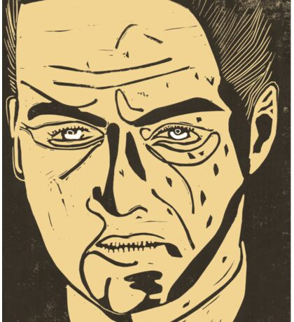 Jude Law as Harlen Maguire from Road to Perdition, linocut Sticker