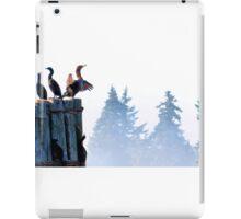 Cormorants on a foggy morning. iPad Case/Skin