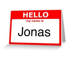 My name is Jonas Greeting Card