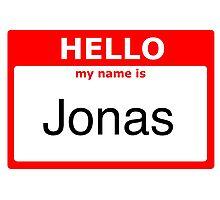 My name is Jonas Photographic Print