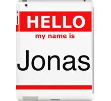 My name is Jonas iPad Case/Skin