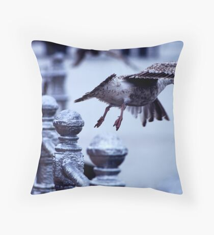 Blackpool seagull Throw Pillow