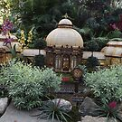 Model Building, New York Botanical Garden Holiday Train Show, Bronx, New York by lenspiro