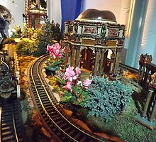 Model Buildings, Model Trains, New York Botanical Garden Holiday Train Show, Bronx, New York by lenspiro