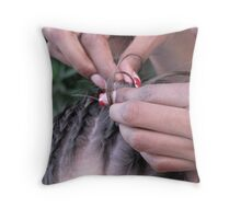 Braids Throw Pillow