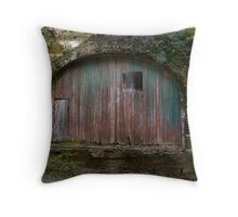 Railroad Sheds Throw Pillow