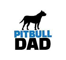Pit bull Dad Photographic Print