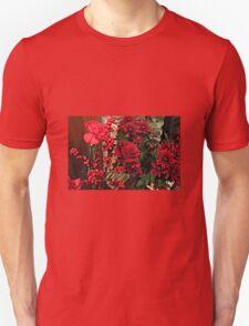 Scarlet Sensation - Winter Flowers and Berries Unisex T-Shirt