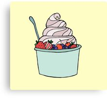 Frozen Yogurt Canvas Print