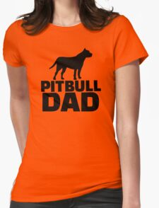 Pitbull Dad Womens Fitted T-Shirt