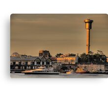 Master of The Harbour - Moods Of A City # 4 - The HDR Series - Sydney Harbour, Sydney Australia Canvas Print