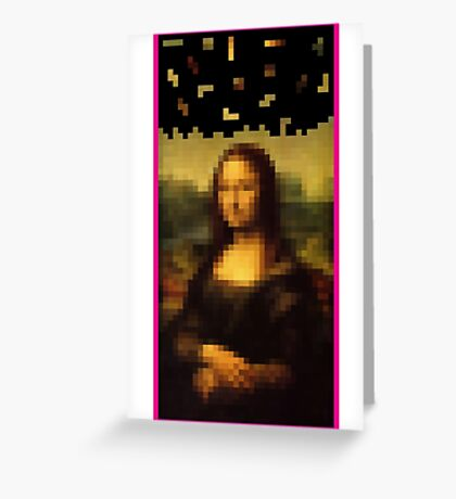 Da Vinci Tetris Greeting Card