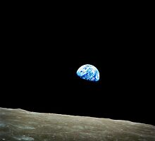 Apollo 8 Dec 24 Earthrise  by NASA by Adam Asar