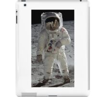 Apollo 11 A7L space suit worn by BUZZ ALDRIN. Aldrin standing on moon. Neil Armstrong and Eagle reflected in his visor, 20 July 1969. by NASA iPad Case/Skin