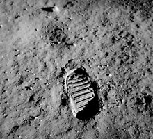 Apollo 11 Buzz Aldrins Moon Footprint by NASA by Adam Asar