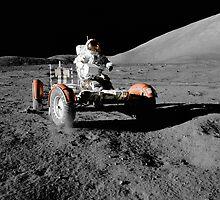 Apollo 17's lunar roving vehicle, 1972 by NASA by Adam Asar